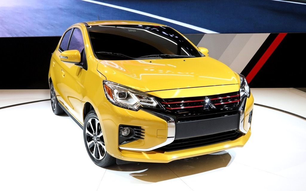 refreshed 2021 mitsubishi mirage unveiled in north