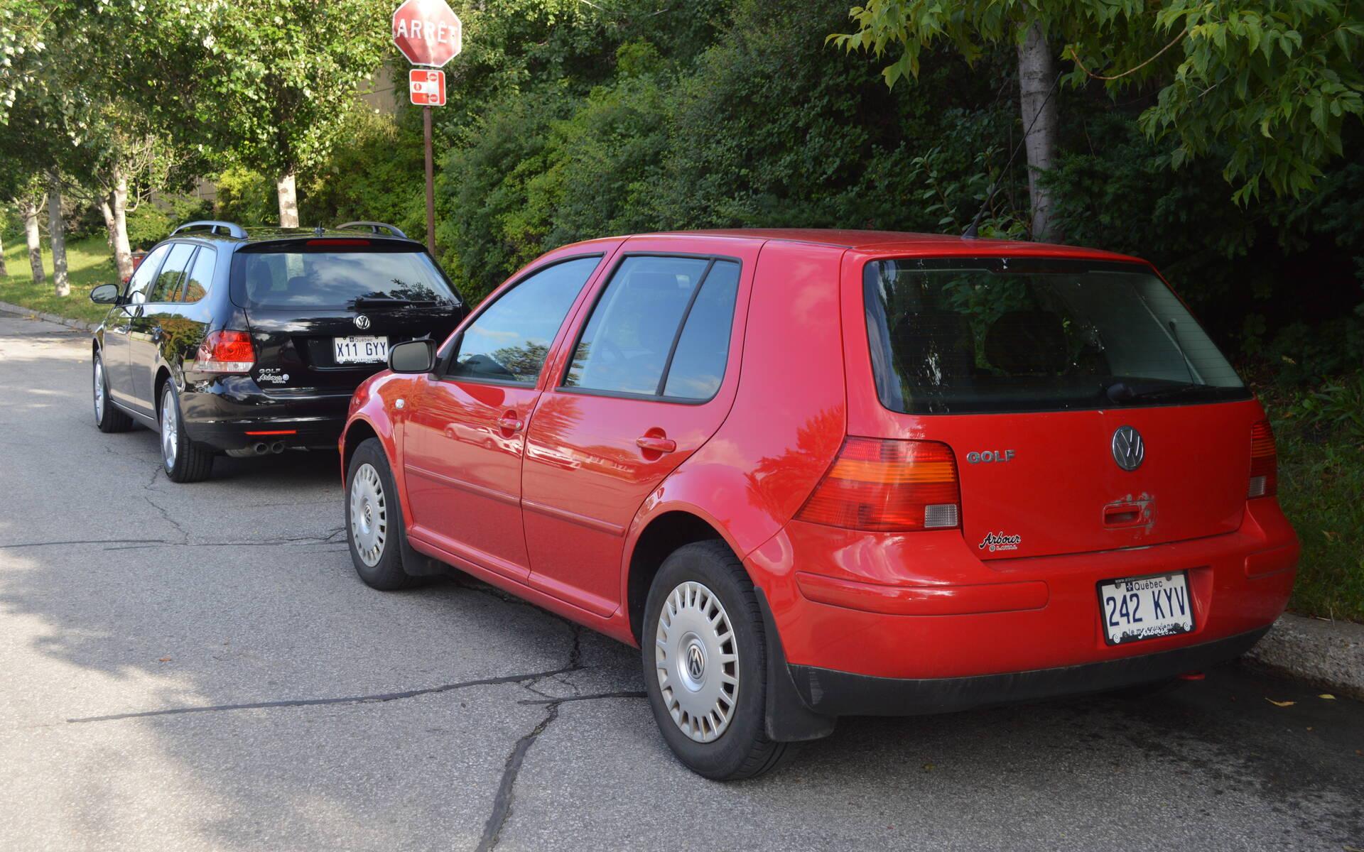 <p>Volkswagen Golf Sportwagen 2014 et Golf CL 2003</p>