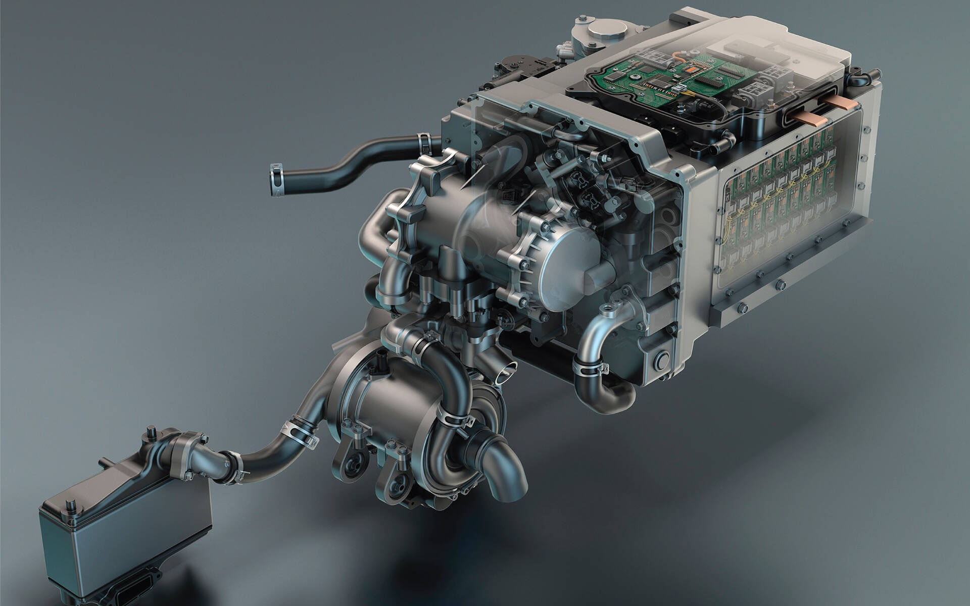 <p>Système de pile à combustible Hydrotec de GM</p>