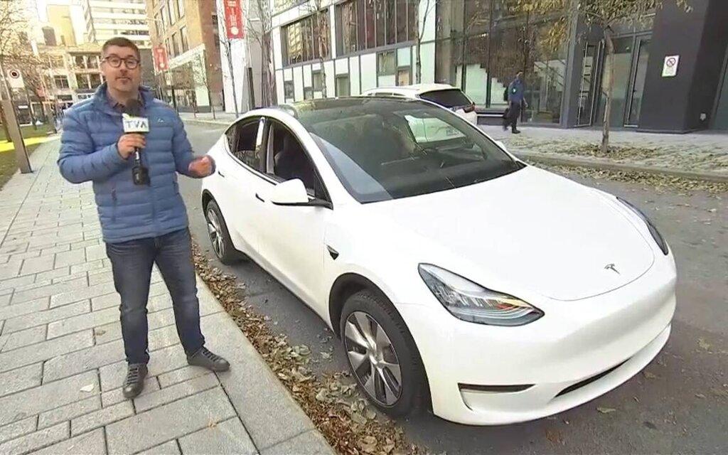 Antoine Joubert presents the Tesla Model Y at Salut Bonjour