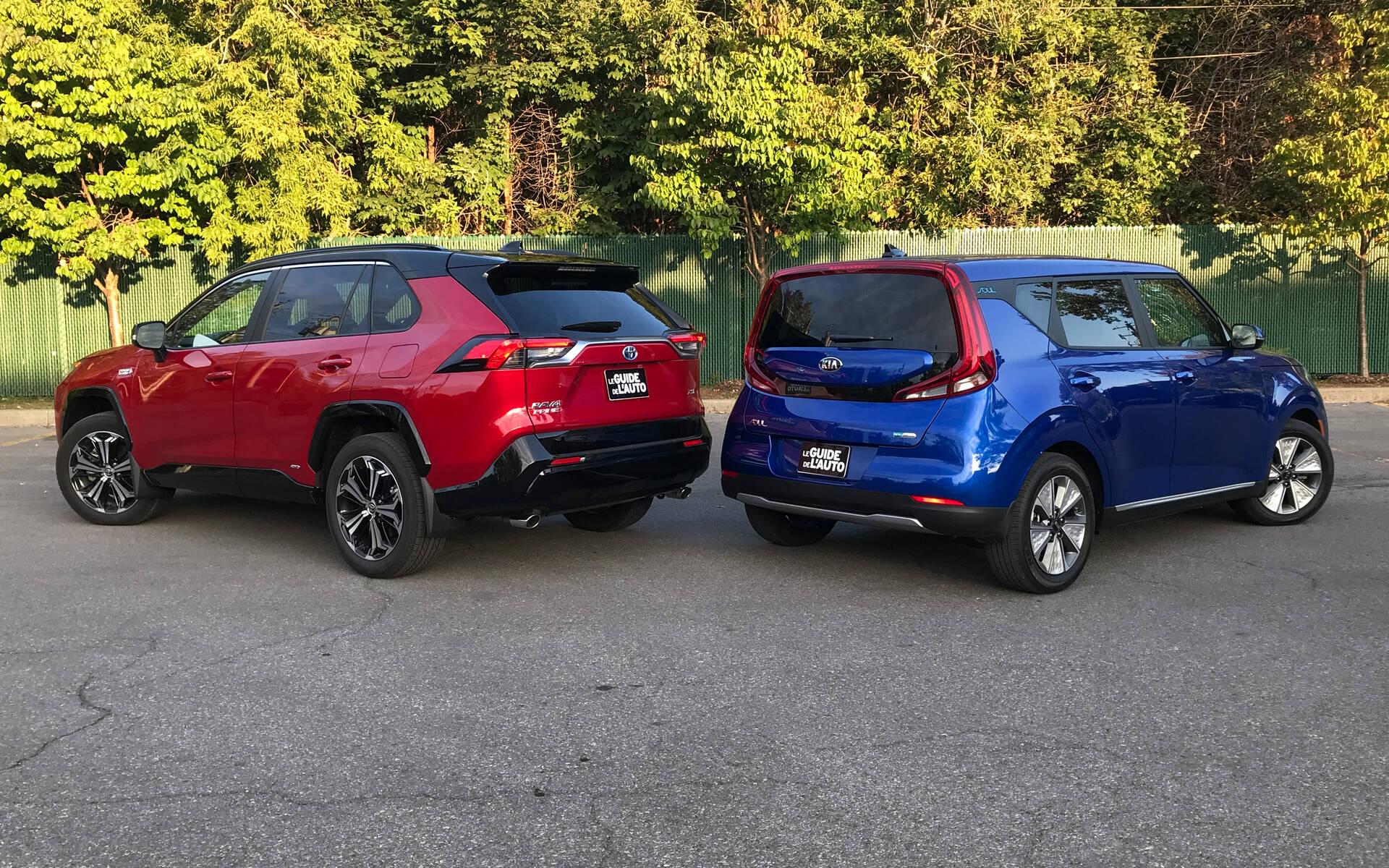 <p>Toyota RAV4 Prime et Kia Soul EV</p>