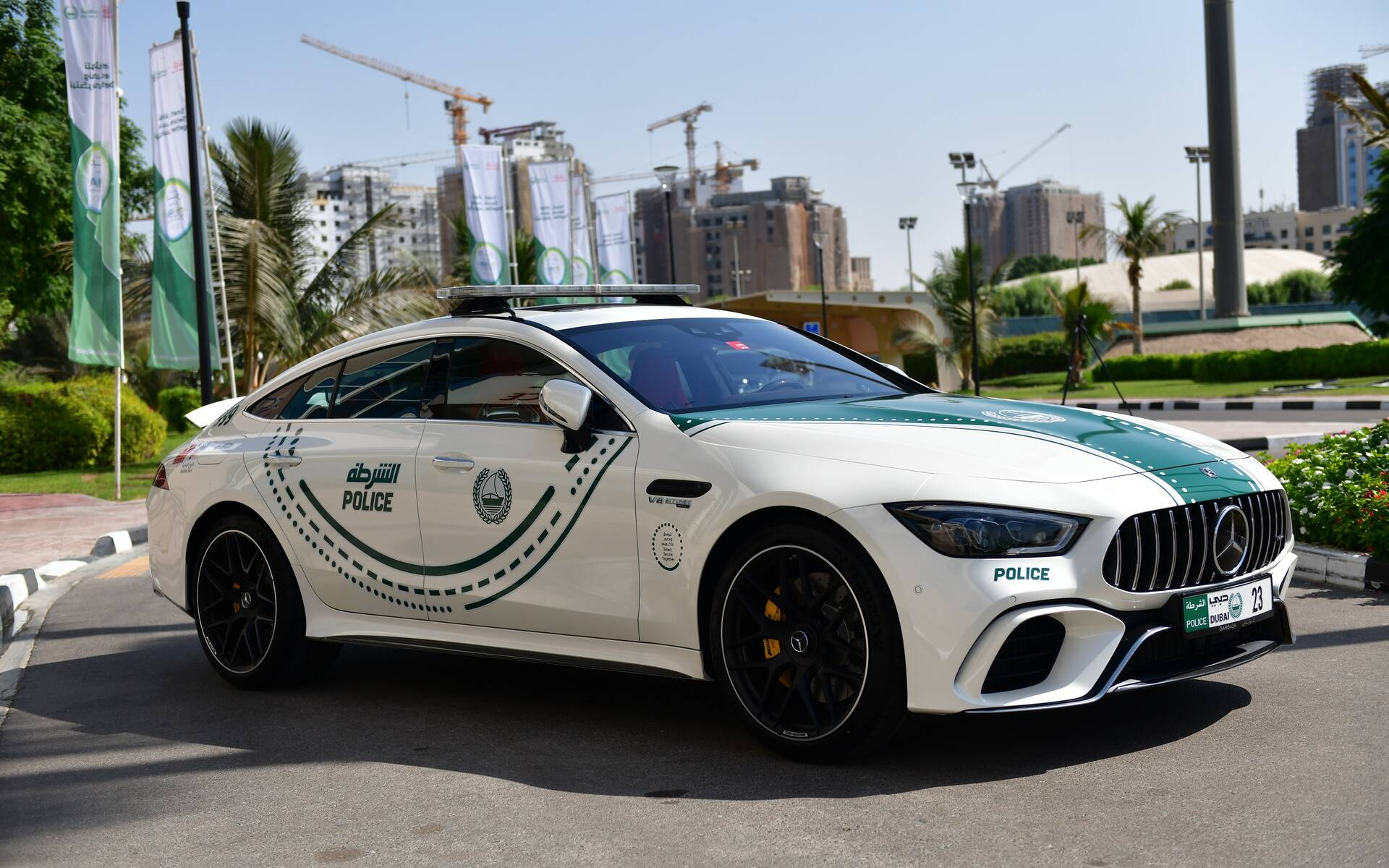 <p>Mercedes-AMG GT 4-Door Coupe (Dubai)</p>