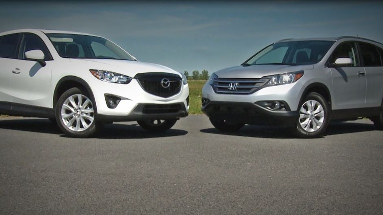 comparison review 2013 mazda cx 5 vs honda cr v the car guide. Black Bedroom Furniture Sets. Home Design Ideas