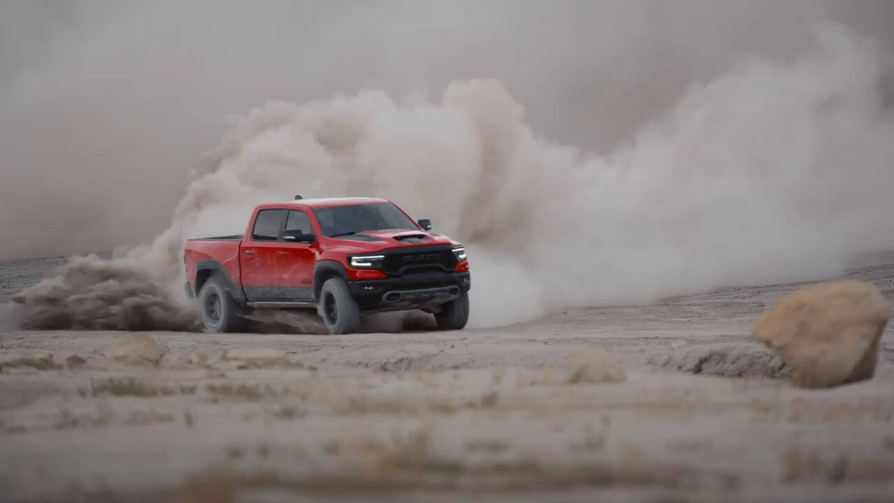 Raptor Eating 2021 Ram 1500 Trx Unleashed With 702 Hp The Car Guide